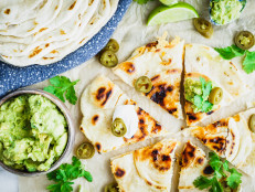 Chicken Quesadillas with Homemade Flour Tortillas