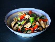Velveted Chicken Stir-Fry with Shiitake Mushrooms and Bok Choy