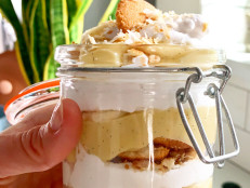 Toasted Coconut Banana Pudding for Two