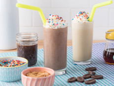 Chocolate Ice Cream and Chocolate Peanut Butter Milkshake