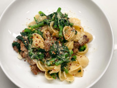 Roasted Garlic and Sausage Orecchiette