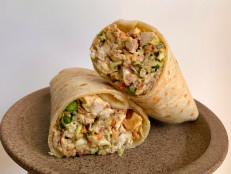 Gingery Rotisserie Chicken Salad Wraps
