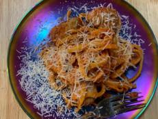 Tagliatelle and 3-Meat Meatballs