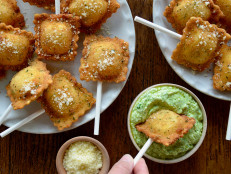 Fried Ravioli Pops with Pesto Dip (Sponsored)