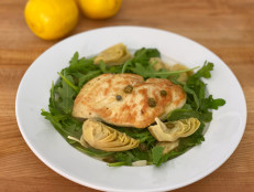 Lemon Chicken with Artichokes, Capers and Arugula