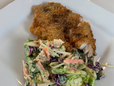 Southern Fried Fish with Creamy Remoulade Coleslaw