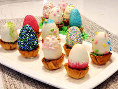 Easter Egg Cake Pops in Phyllo Nests