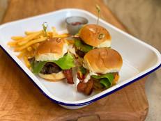 Air Fryer Bacon Cheeseburger Sliders