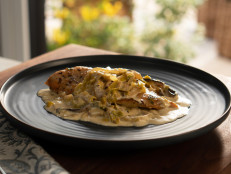 Chicken with Creamy Mushrooms, Fennel and Leeks