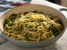 Herby Lemon Spaghetti with Snap Peas