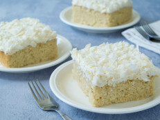 Coconut Sheet Cake with Marshmallow-Cream Cheese Frosting