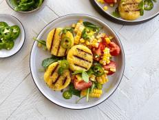 Grilled Polenta with Tomato-Corn Salad