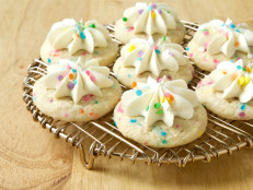 Frosted Rainbow Sprinkle Cookies