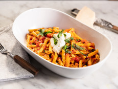 Bobby's Penne with Tomatoes and Basil