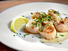 Sauteed Scallops with Brown Butter, Rosemary and Preserved Lemon