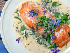 Slow Roasted Salmon with Fresh Herb Sauce