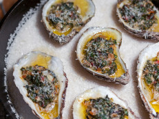 Oyster Roast with Bacon and Parmesan