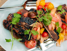 Grilled Country Ribs with Fresh Melon Salad