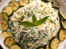 Zucchini Pasta Noodles with Garlicky Yogurt Sauce