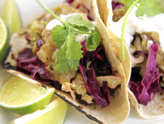 Roast Pork Tacos with Tomatillo Salsa