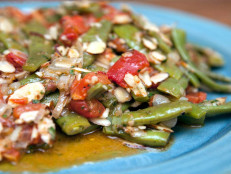 Braised Romano Beans with Salomoriglio
