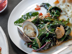 Swiss Chard and Clams with Chili