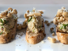 Artichoke Crostini with Wild Mushrooms