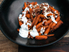BBQ Baby Carrots with Dill Yogurt Sauce