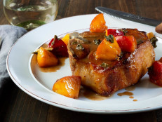 Pork Chops with Glazed Peaches