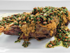 Yogurt and Herb-Roasted Leg of Lamb