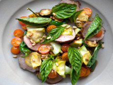 Pork Tenderloin with Squash, Tomato and Basil