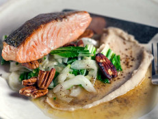 Pan-Roasted Salmon With White Bean Puree and Lemon Brown Butter
