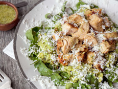 Mexican Chicken Salad with Guacamole and Fresh Romaine