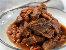 Red Chile Steak with Beans