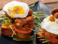 Crispy Chicken Sandwich with a Sunny Side Up Egg