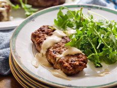 Lamb Kebabs with Arugula and Tahini