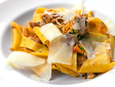 Braised Rabbit with Fresh Pappardelle