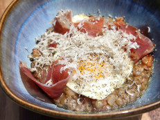 Truffled Lentils with Spanish Ham