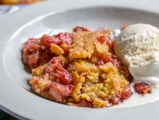Strawberry Cobbler with Cornmeal Sugar Cookie Crust
