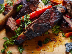 Slow Smoked Short Ribs with Pickled Peppers