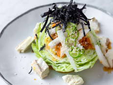 Kyu Wedge Salad, Dressing, Asian Pear, and Blue Cheese