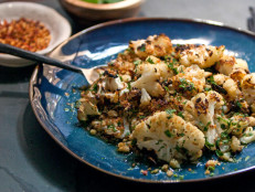 Blistered Cauliflower with Anchovy, Garlic, and Chili Flakes