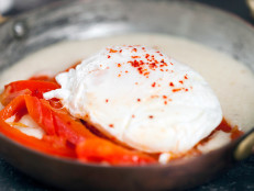 Grits, Piperade, and Poached Eggs