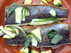 Freshwater Trout with Roasted Summer Squash
