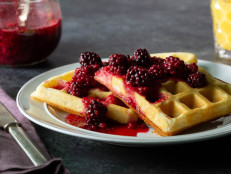 Swedish Waffles With Berry Compote