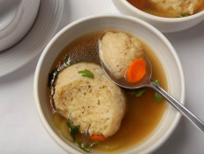 Matzo Ball Soup with Black Garlic