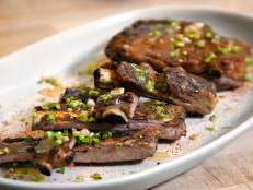 Glazed Pork Ribs with Scallions and Togarashi