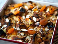 Bread Pudding with Apricots and Almonds