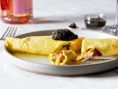Omelette with Smoked Salmon & Caviar