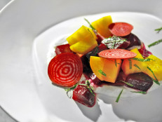 Beet Salad with Mascarpone and Mint